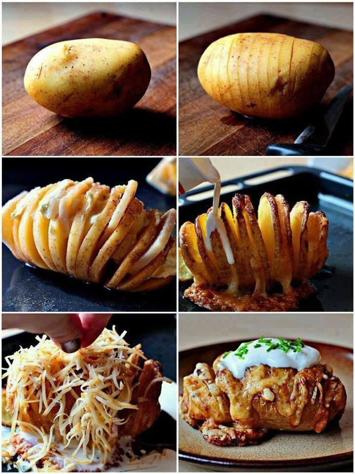 DIY Delicious Loaded Hasselback Potatoes2