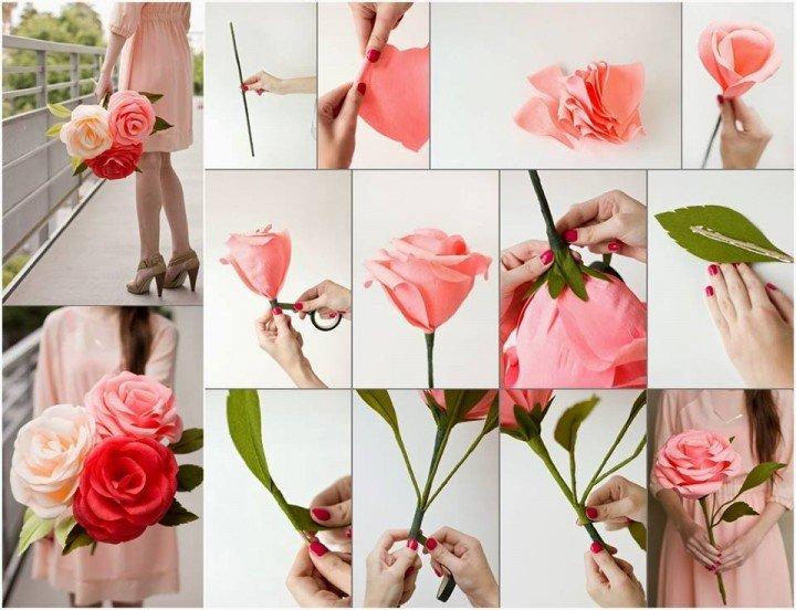 DIY Giant Crepe Paper Rose tutorial - video