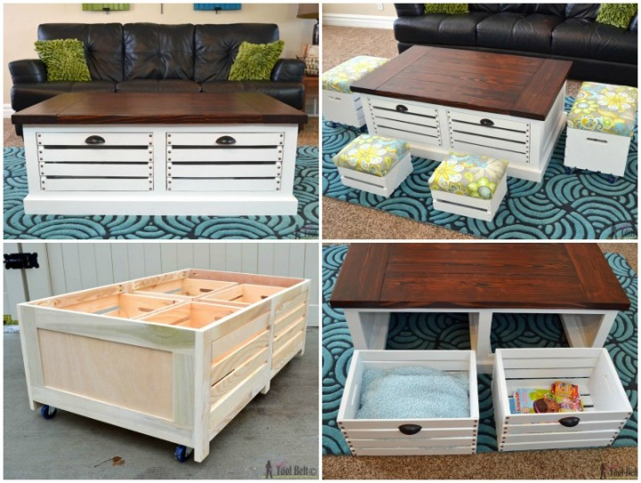 Wood Crate Coffee Table Stain Coffee Addicts