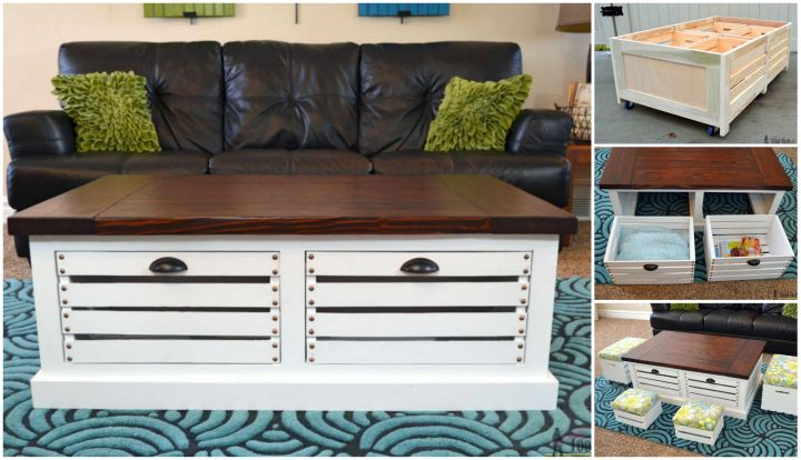 diy wood crate coffee table | Woodworking Camp and Plans