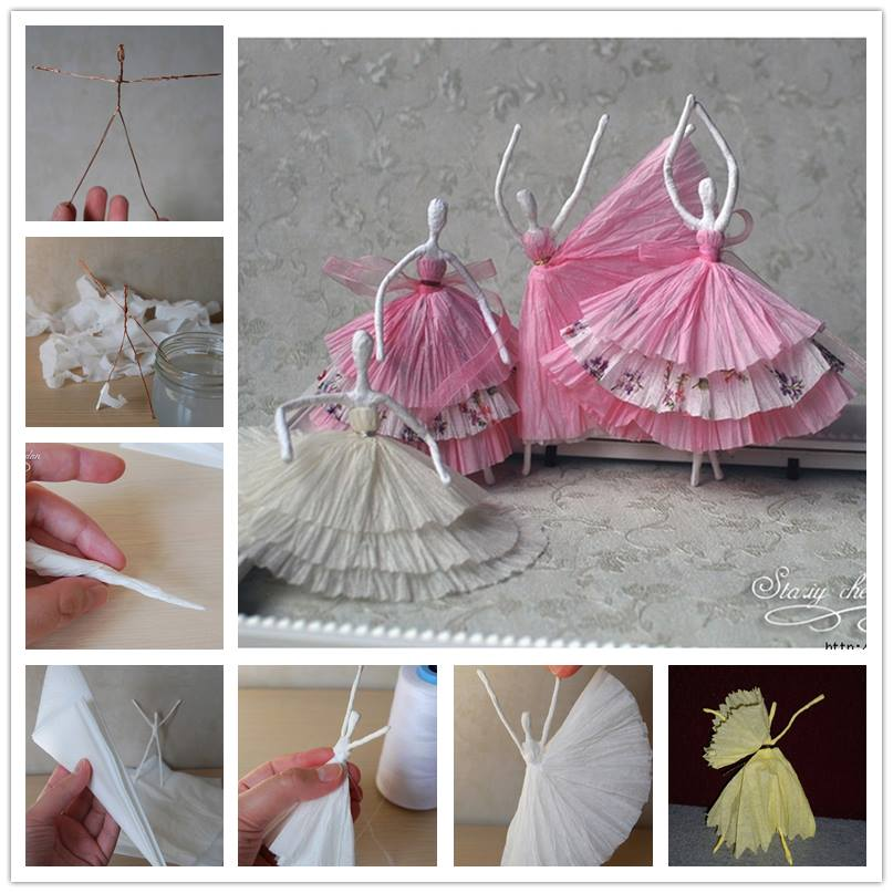 It's amazing to use tissues to make dancing figures