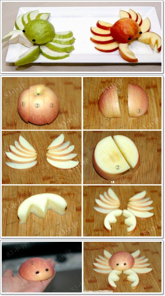 Apple Cutting Hack - 5 Apple Cut Tutorials/creative apple cutting way and tutorials