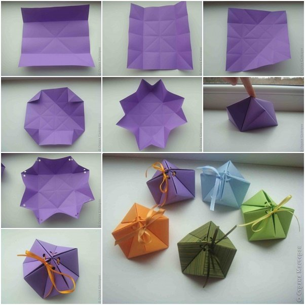 Paper Gift Box Ideas : How to diy paper origami gift box fabartdiy
