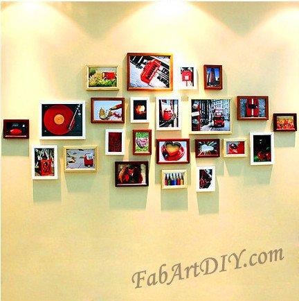24 Romantic DIY Photo Display Wall Art Ideas (1)