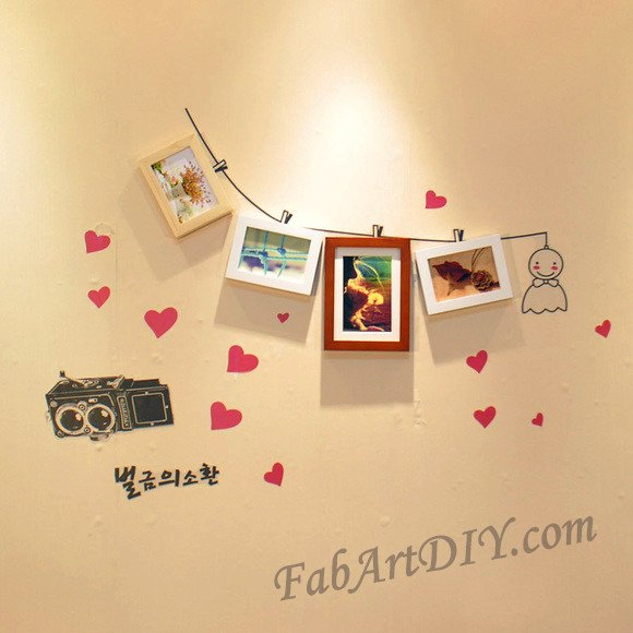 24 Romantic DIY Photo Display Wall Art Ideas