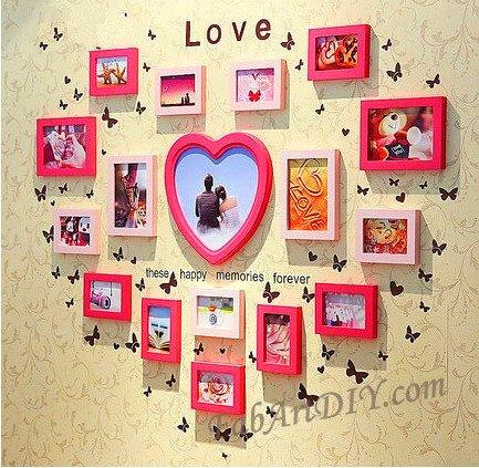 24 Romantic Ideas For Wall Photo Frame Art