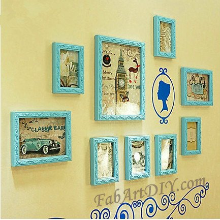 24 Romantic Ideas for Wall Photo Frame Art