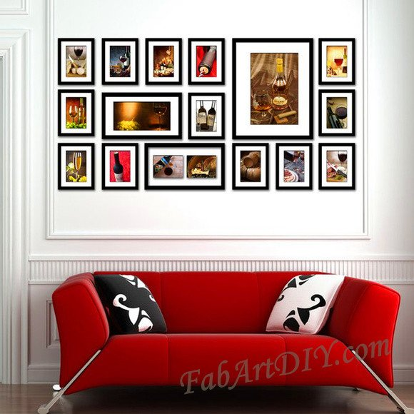 24 Romantic DIY Photo Display Wall Art Ideas