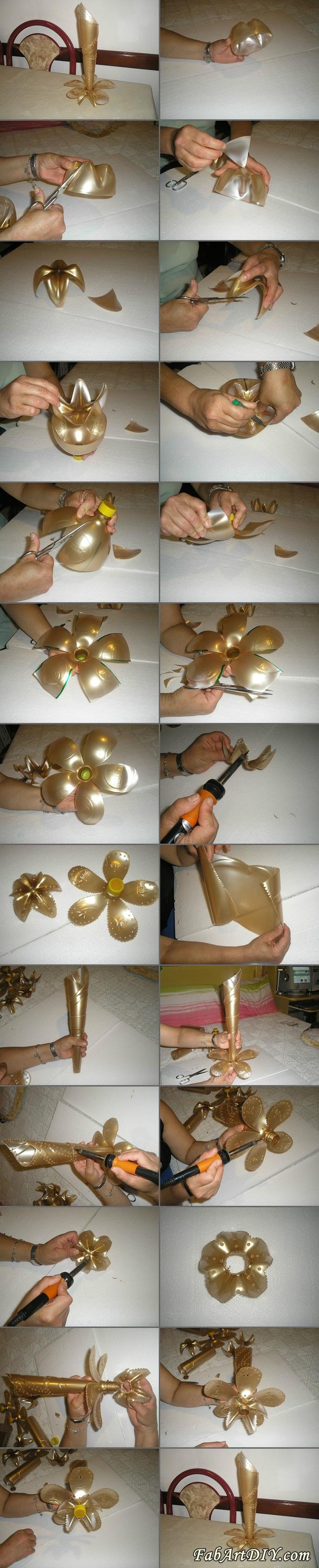 plastic bottle vase tutorial