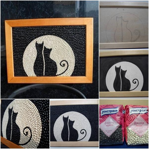 Bean cat frame wallart feature
