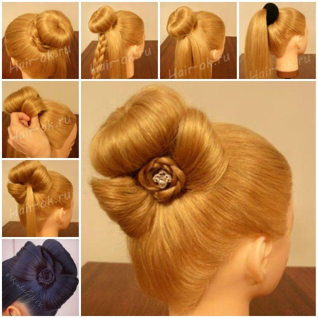 Diy Braided Bow Bun Hairstyle Video