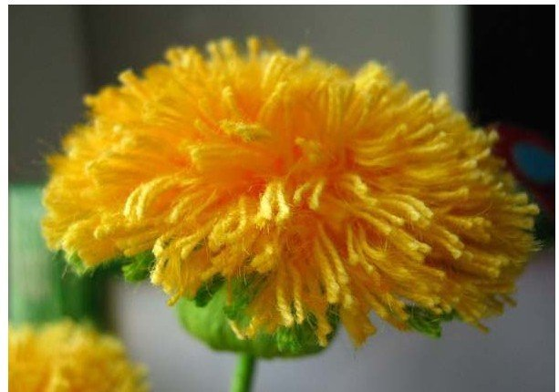 How to DIY Crochet Yarn Dandelion Bouquet free pattern with picture tutorial