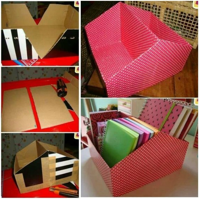 How to Turn shoe box into organizer -DIY File Organier from Shoe Box