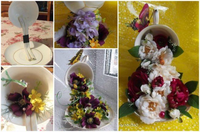 DIY Floral Topiary Flying Cup Tutorial
