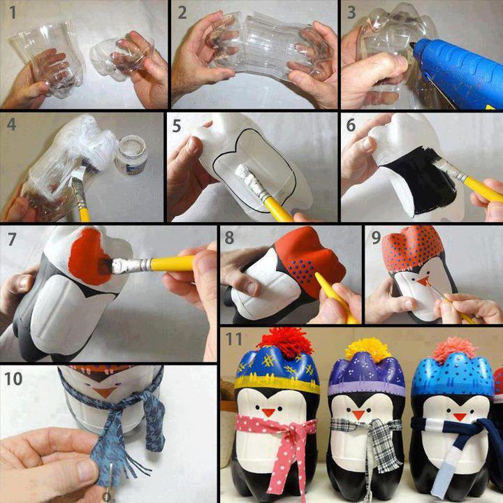 DIY-Plastic-Bottle-Penguin