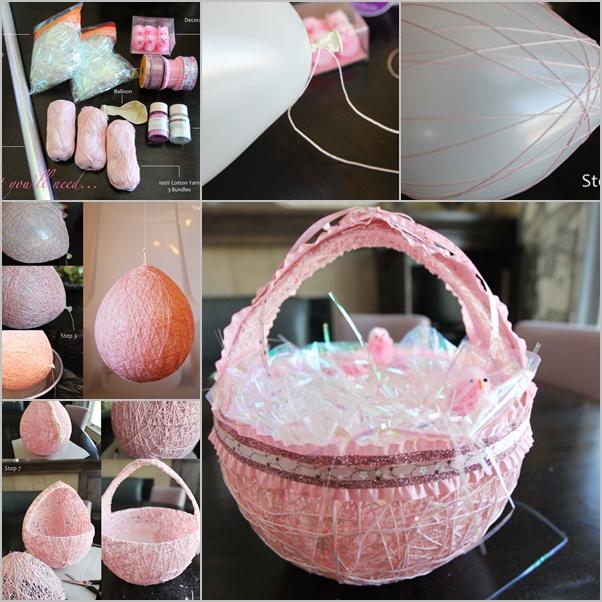 Easter egg string basket