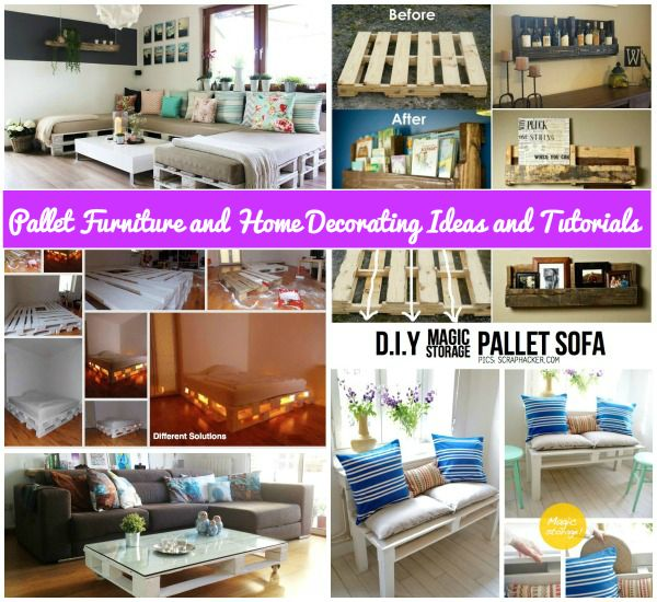 DIY Pallet Home Decorating and Furniture Projects and Tutorials feature