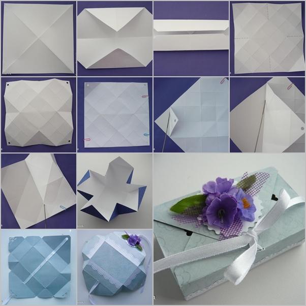 Diy Origami Gift Box Without Glue Fab Art Diy