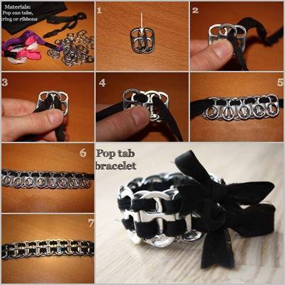 Pop tab bracelet feature