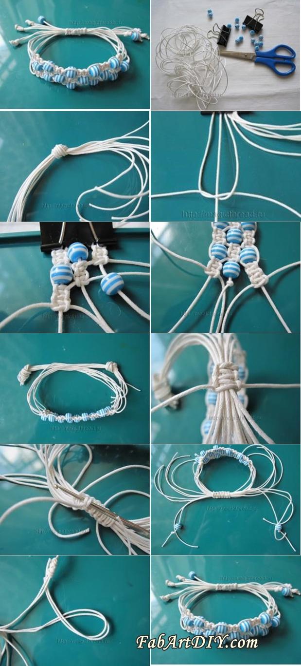 adjustable beaded bracelet tutorial