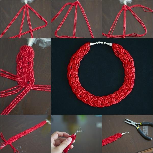 DIY Stylish Braided Bead Neklace Fab Art DIY - Diy braided necklace