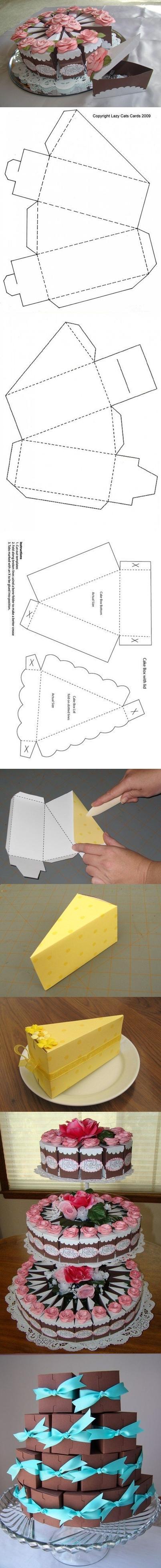 cake gift box tutorial