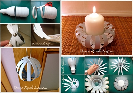 diy candle holder from plastic bottle - Diy Candle Holders