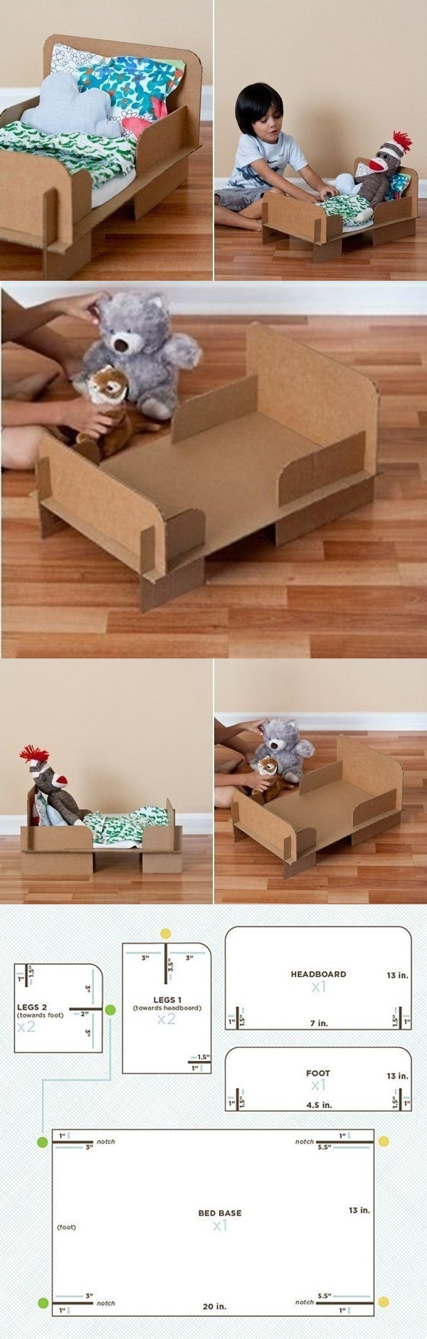 DIY Doll Bed from Carton Box - carton bed for doll
