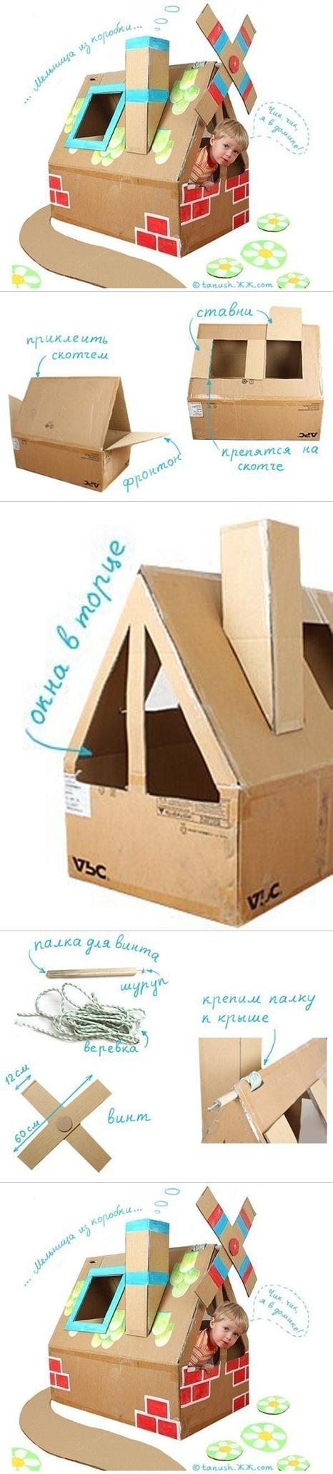 carton box playhouse