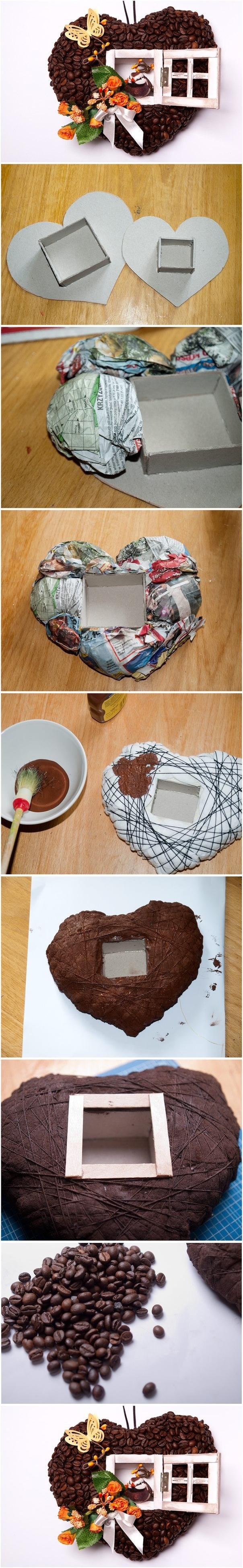 coffeebean heart tutorial