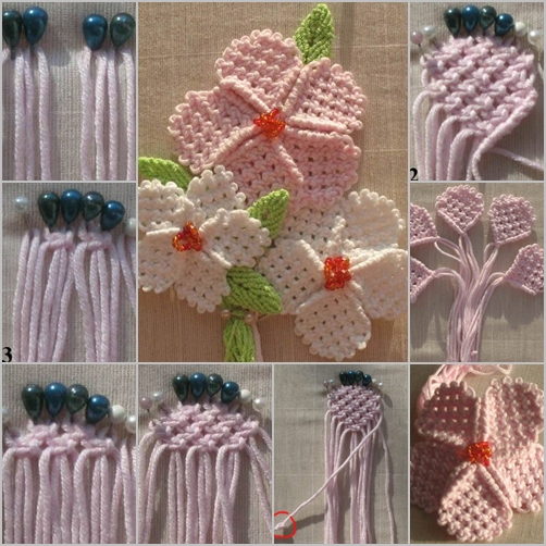 crochet flower feature