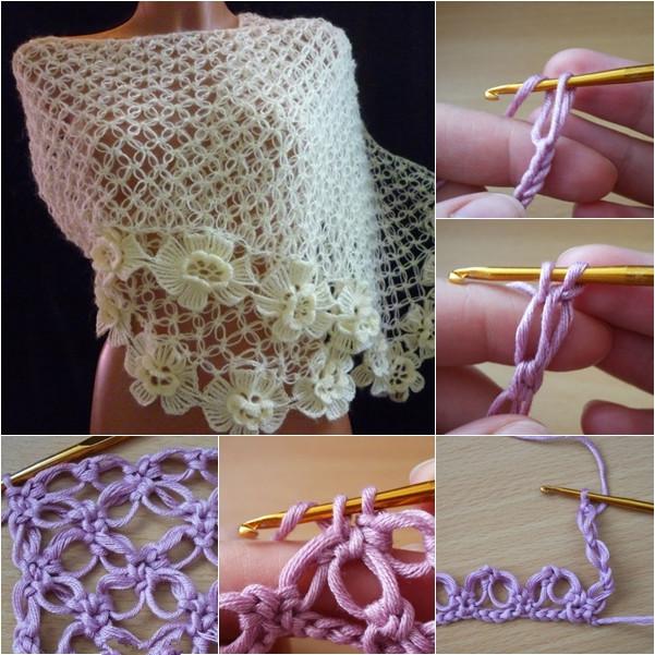 How to DIY Crochet Solomon knot stitch free pattern-crochet solomon stitch shawl