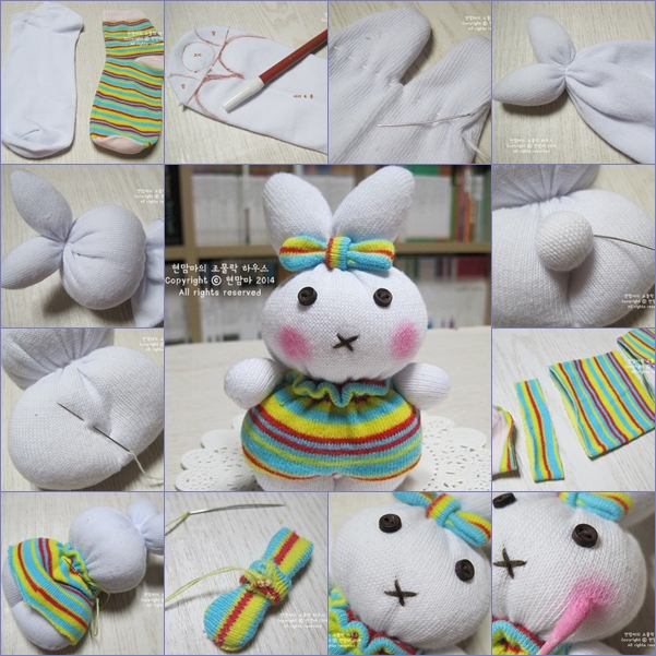 cute sock bunny feature