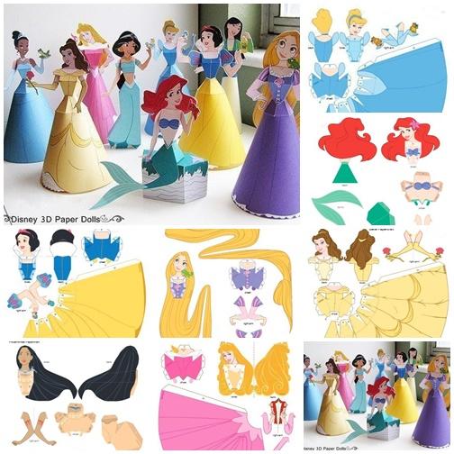 Diy Disney 3d Paper Princess