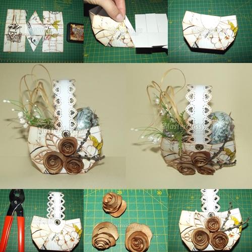 DIY Vintage Easter Paper Basket