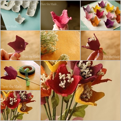 DIY Easy Egg Carton Flower Bouquet Awesome How To Decorate Egg Tray