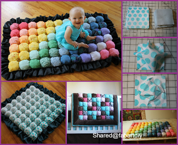 DIY Baby Bubble Quilt Biscuit Puff Quilt Tutorial