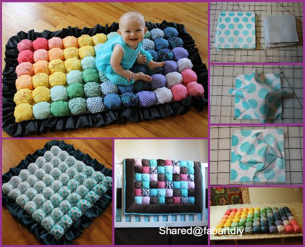 DIY Bubble Quilt Or Biscuit Quilt Tutorial Best Puff Quilt Patterns