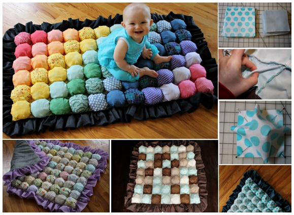 DIY Bubble Quilt or Biscuit Quilt Puff Blanket Tutorial + Video
