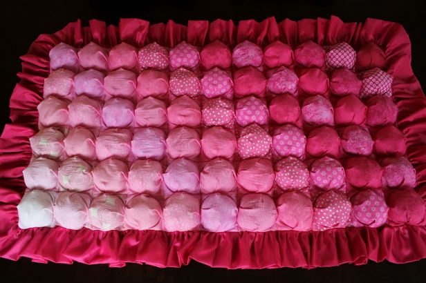 DIY Pink Ombre Bubble Quilt Tutorial