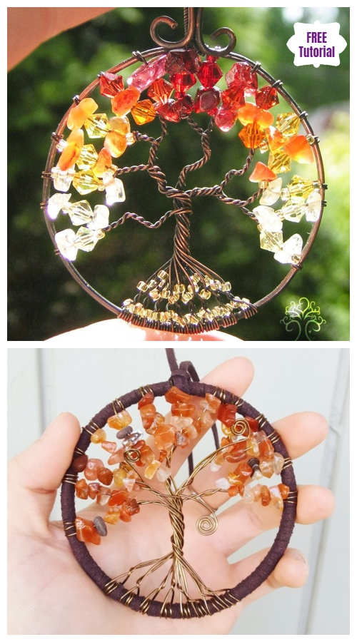 DIY Tree of Life Bead Wire Pendant Tutorial - Video
