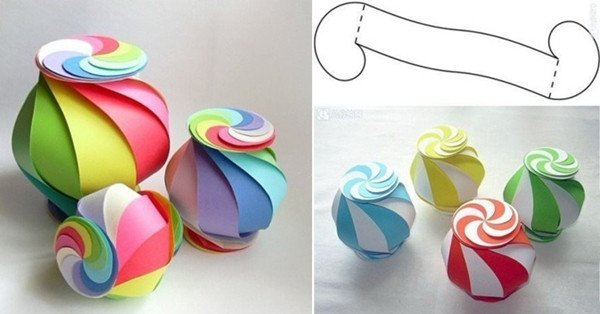 How to Make 10-sided Rainbow Globe Gift Box tutorial with video