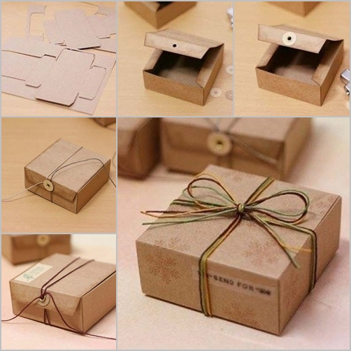Diy gift box from cardboard fab art diy for Diy box crafts