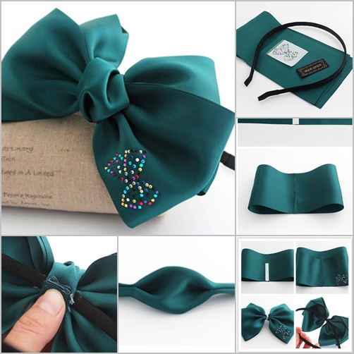 DIY Ribbon Bow Hair Band
