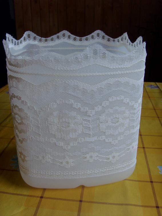DIY Lace Lamp from Plastic Bottle