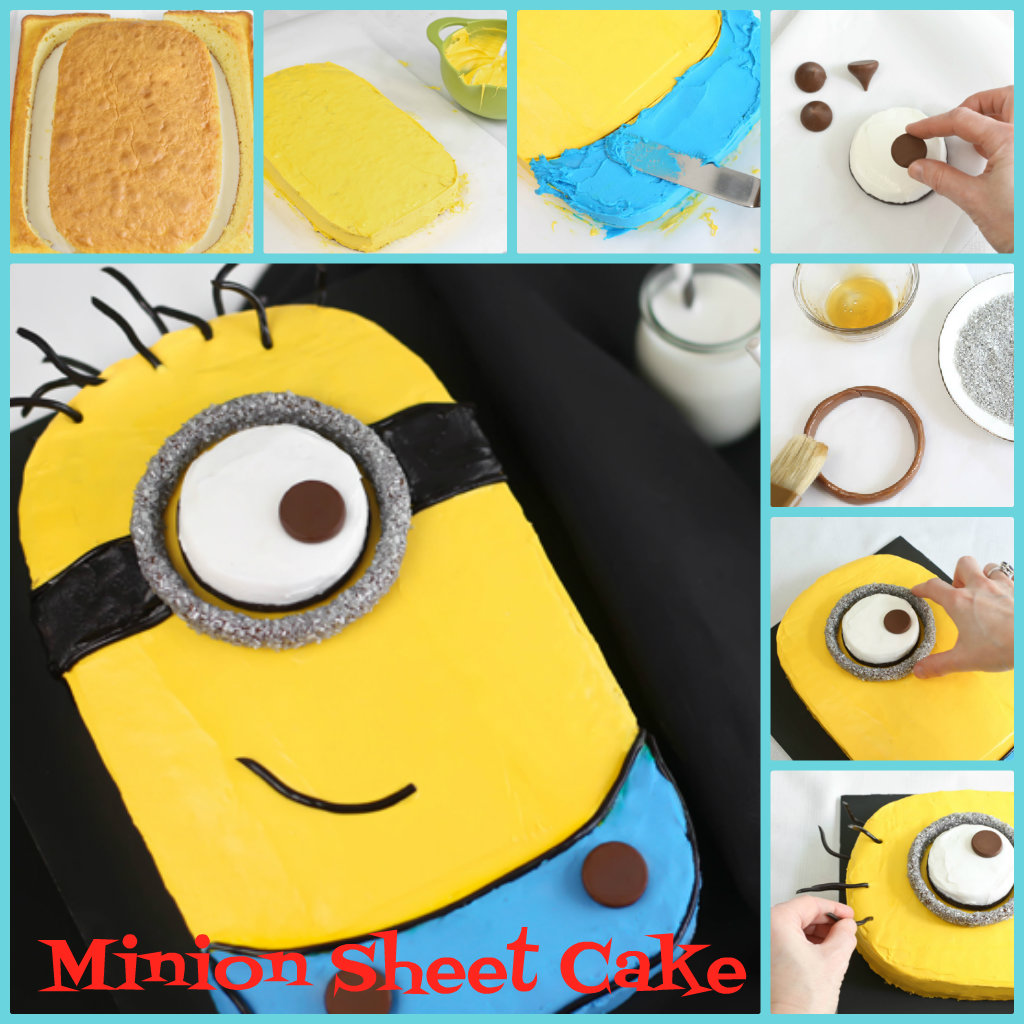DIY Despicable Me Minion Sheet Cake - Fab Art DIY