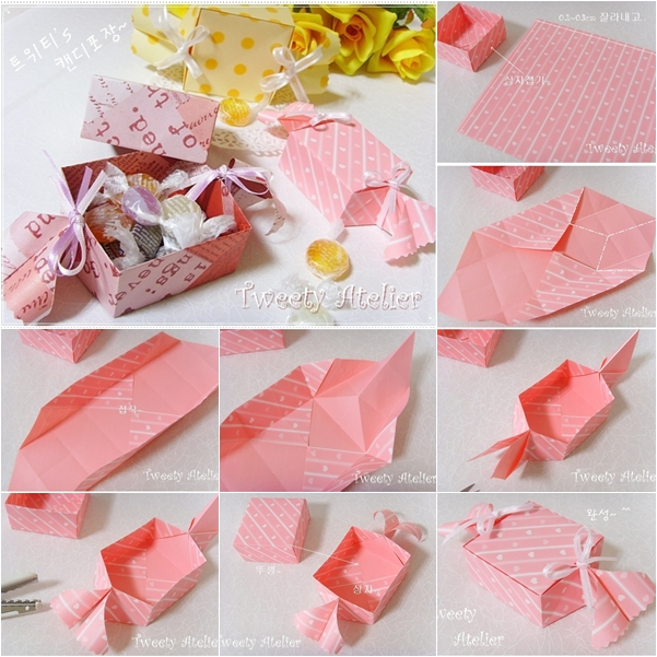 Diy Candy Shaped Paper Candy Gift Box Picture