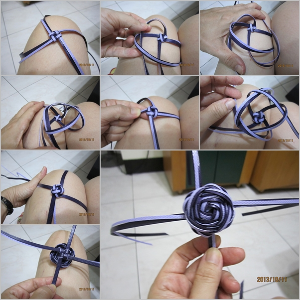 packing strip rose knot feature