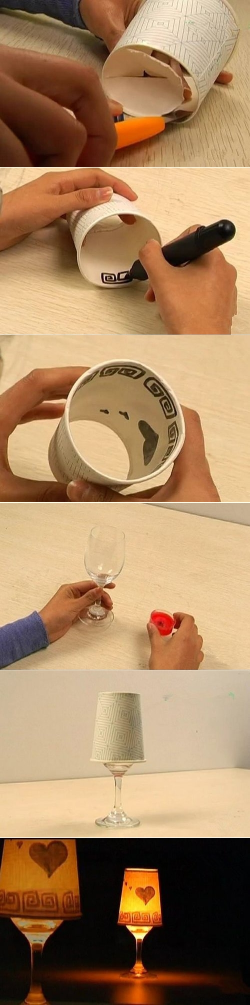 DIY Paper Cup Candle Shade