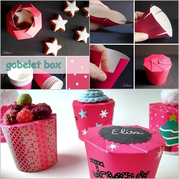 DIY paper cup gift box - how to fold a paper cup into gift box